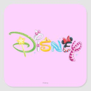Disney Logo | Girl Characters Square Sticker