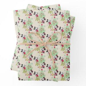 Disney | Mickey & Minnie | Classic Christmas Tree Wrapping Paper Sheets