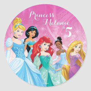 Disney Princess | Birthday Classic Round Sticker