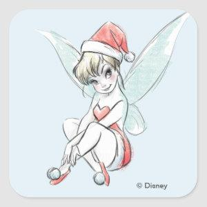 Disney   Tinker Bell   Holiday Cheer Quote Square Sticker