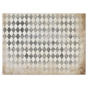 DISTRESSED HARLEQUIN PATTERN ANTIQUE BROWN TISSUE PAPER