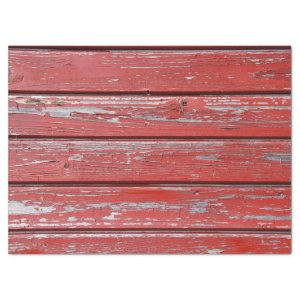 distressed red wood tissue paper
