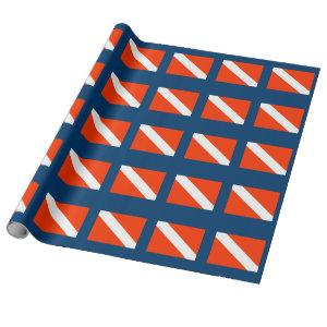 Diver Down Flag Wrapping Paper