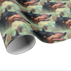 Doberman Pinscher in the Woods Wrapping Paper