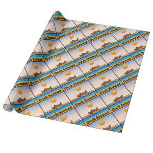 Dock Sunned Wrapping Paper