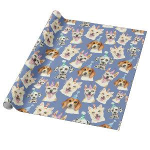Dog Party Pattern | Dog Lovers Birthday Wrapping Paper