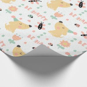doggy birthday wrapping paper