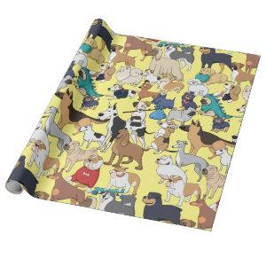 Dogs of the World Wrapping Paper