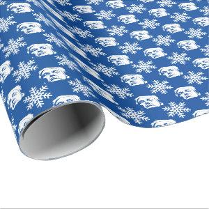 Donald Trump and Snowflakes Christmas Pattern Wrapping Paper