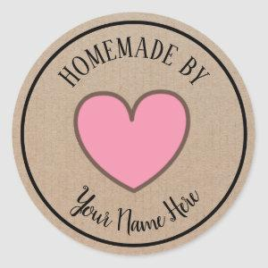 Donut Cookie Cake Heart Homemade By Vintage Craft Classic Round Sticker