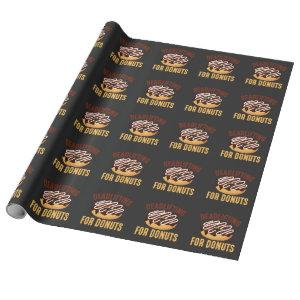 Donut Deadlift Gym Workout Fitness Fast Food Fan Wrapping Paper