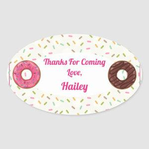 Donut Party Thank You Sticker