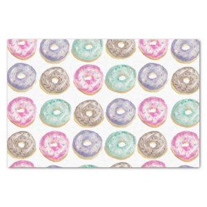 Donuts in watercolor tissue paper