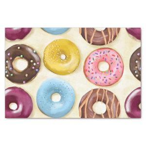 Donuts pattern tissue paper