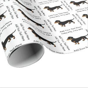 Doxie Dog Love - Cute Little Dachshund Wrapping Paper