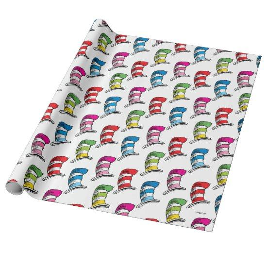 Dr. Seuss | Cat In The Hat Colorful Hat Pattner Wrapping Paper