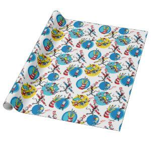 Dr. Seuss | Characters With Pencils Pattern Wrapping Paper