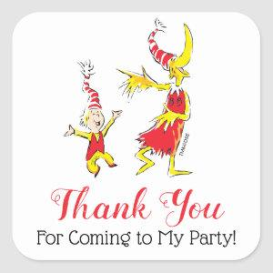 Dr. Seuss   Happy Birthday to You - Thank You Square Sticker