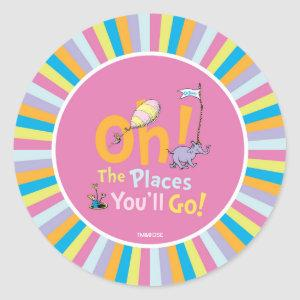 Dr. Seuss   Oh! The Places You'll Go! Classic Round Sticker