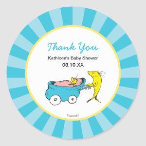 Dr. Seuss | One Fish - Boy Baby Shower Thank You Classic Round Sticker