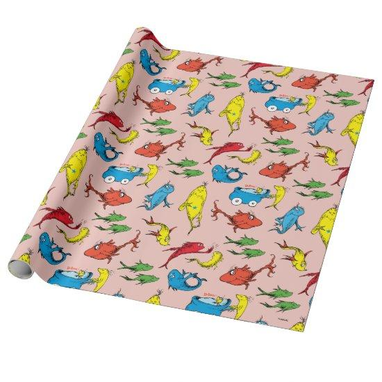 Dr. Seuss | One Fish Two Fish Pattern Wrapping Paper