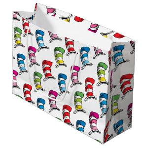 Dr. Seuss | The Cat In The Hat Colorful Hat Patter Large Gift Bag