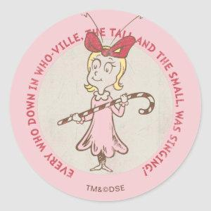 Dr Seuss | The Grinch | Cindy Lou Who - Cute Quote Classic Round Sticker