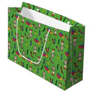 Dr. Seuss | The Grinch | Cindy-Lou Who Pattern Large Gift Bag