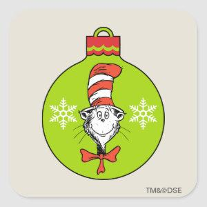 Dr Seuss | The Grinch | Classic The Cat in the Hat Square Sticker