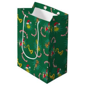 Dr Seuss | The Grinch | Merry Grinchmas Pattern Medium Gift Bag