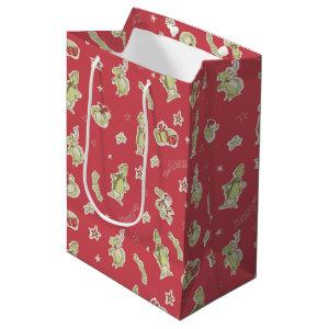 Dr Seuss | The Grinch | Red Christmas Pattern Medium Gift Bag