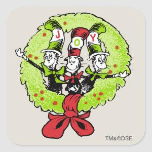 Dr Seuss | The Grinch | Who-ville Christmas Joy Square Sticker