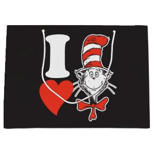 Dr. Seuss Valentine | I Heart the Cat in the Hat Large Gift Bag