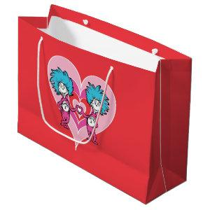 Dr. Seuss Valentine | Thing 1 Thing 2 Large Gift Bag