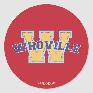 Dr. Seuss | Whoville Athletic Logo Classic Round Sticker