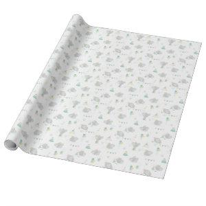 Dream Big Dumbo Pattern Wrapping Paper