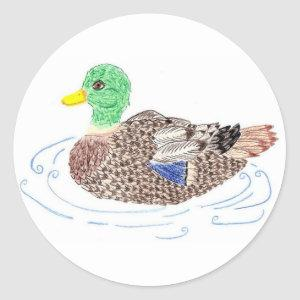 Duck round stickers