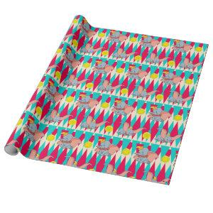 Dumbo Bright Circus Pattern Wrapping Paper