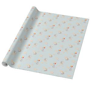 Dumbo up in the Clouds Pattern Wrapping Paper