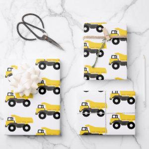 Dump Truck Construction Trucks Wrapping Paper Sheets