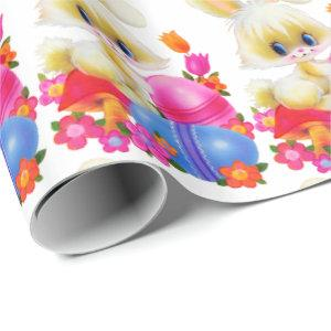Easter Bunny and eggs pattern wrapping paper