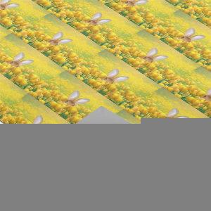 Easter bunny in yellow tulips wrapping paper