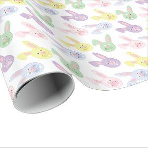 Easter Bunny pattern wrapping paper