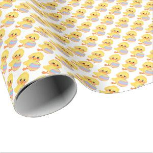 Easter chick and egg wrapping paper