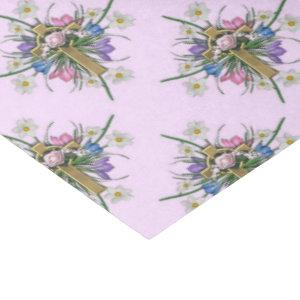 Easter cross and flowers pattern tissue paper