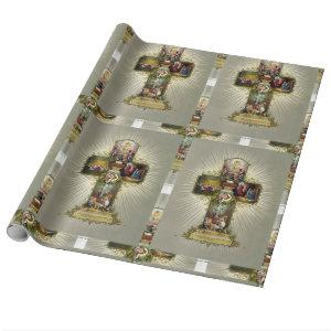 Easter Cross Wrapping Paper