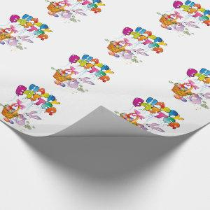 Easter Gift Wrap/Bunny with basket with eggs Wrapping Paper