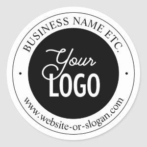Easy Logo Replacement & Customizable Text Classic Round Sticker