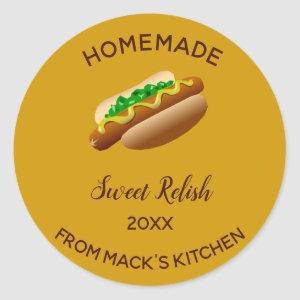Editable Homemade Sweet Relish Classic Round Sticker