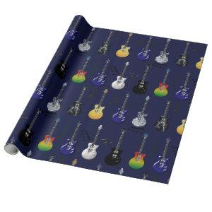Electric Guitars Wrapping Paper